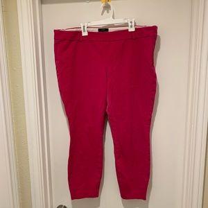 J. Crew Minnie Pants in Berry Pink